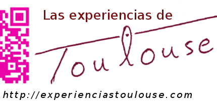 """Logotipo y dirección web de """"Las experiencias de Toulouse"""""""
