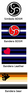 Banderas sexuales, BDSM, bandera leather, bandera bear,
